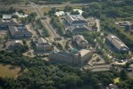 Aerial photograph of Business park near Camberley