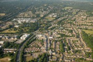 Aerial photograph of Frimley