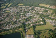 Aerial photograph of Mytchett