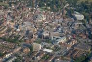 Aerial photograph of Guildford town centre