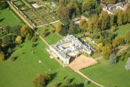 Aerial photograph of Polesden Lacey country house