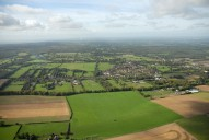 Aerial photograph of View north-west towards Bookham