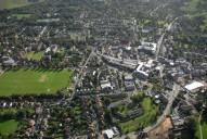Aerial photograph of Leatherhead centre