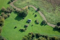 Aerial photograph of Woking Palace