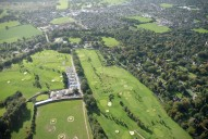 Aerial photograph of Hoebridge Golf Course, Old Woking