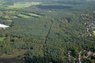 Aerial photograph of Horsell Common