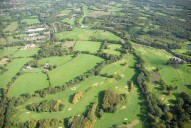 Aerial photograph of Golf course near Bisley