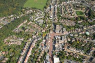 Aerial photograph of Knaphill centre
