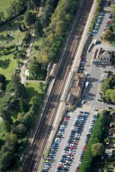 Aerial photograph of Brookwood railway station