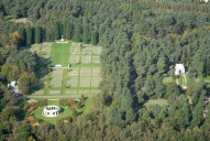 Aerial photograph of Brookwood Military Cemetery