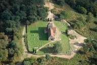 Aerial photograph of St Martha Hill