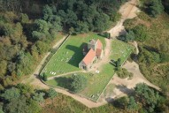 Aerial photograph of St Martha's Hill