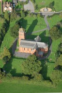 Aerial photograph of Church in Albury