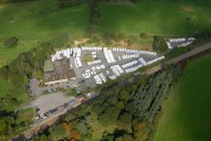 Aerial photograph of Caravan centre and Gomshall station