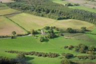Aerial photograph of Church near Westcott