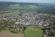 Aerial photograph of Dorking