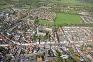 Aerial photograph of Dorking town centre