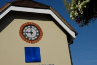 Clock on High Street building, Leatherhead