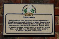 The Mansion sign, Leatherhead