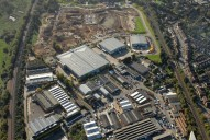 Aerial photograph of Industrial area near Redhill