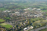 Aerial photograph of View of north Leatherhead