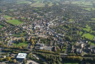 Aerial photograph of Leatherhead from the north-west