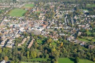 Aerial photograph of Leatherhead from the south
