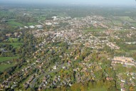 Aerial photograph of Leatherhead