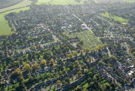Aerial photograph of Bookham outskirts