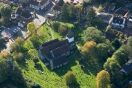 Aerial photograph of St Nicolas Church, Bookham