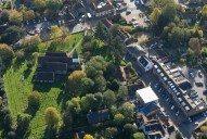 Aerial photograph of Bookham village centre