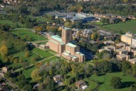 Aerial photograph of Guildford Cathedral