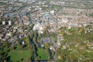 Aerial photograph of Guildford and the River Wey