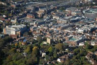 Aerial photograph of Guildford