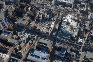 Aerial photograph of North Street, Guildford