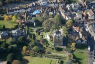 Aerial photograph of Guildford castle