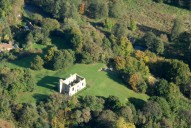 Aerial photograph of St Catherine's Priory, Guildford