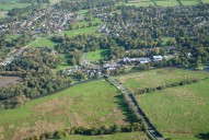 Aerial photograph of River Wey south of Guildford