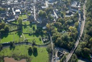 Aerial photograph of River Wey at Godalming