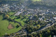 Aerial photograph of Godalming from the south-west