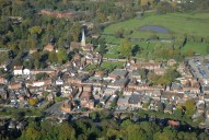 Aerial photograph of Godalming town centre