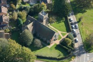Aerial photograph of Church west of Haslemere