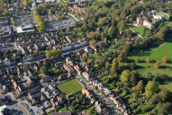Aerial photograph of Castle and Castle Street, Farnham