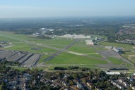 Aerial photograph of Farnborough airport (Hampshire)