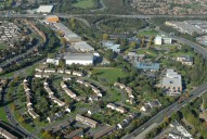 Aerial photograph of M3 junction 3