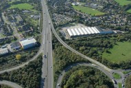 Aerial photograph of M3 junction 4