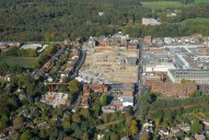 Aerial photograph of The Atrium building site, Camberley