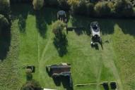 Aerial photograph of Waverley Abbey, Farnham