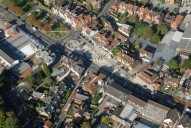 Aerial photograph of Cranleigh town centre