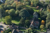 Aerial photograph of Church at Cranleigh